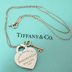 Tiffany and Co Heart and Key Pendant